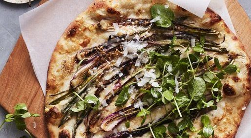 Foodie Friday – Eggplant Pizza with Chorizo, Arugula & Fresh Herbs