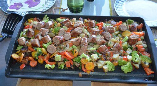 Foodie Friday – Grilled Sausage & Vegetables